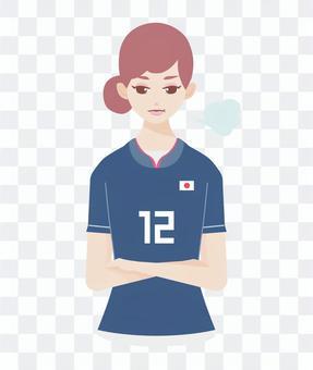 足球支持者迷人的女人