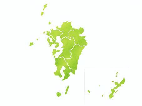 九州地區地圖