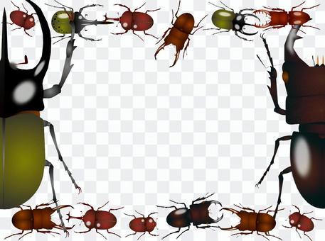 甲蟲和鹿甲蟲框架