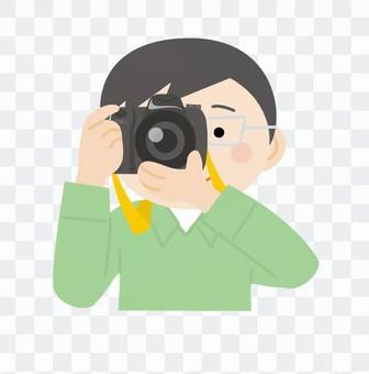 男人和相機