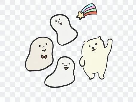 クマ 虹 お餅 キャラクター
