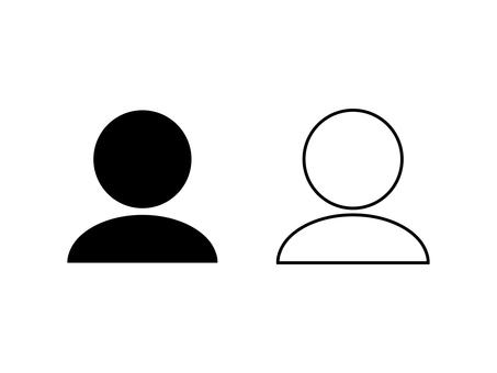 Simple person icon set C: black