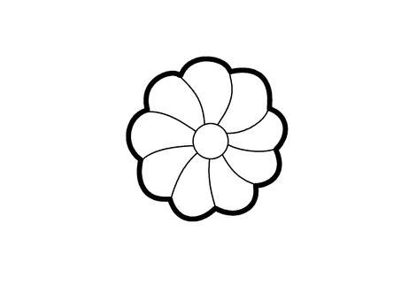 Colorless flower mark icon