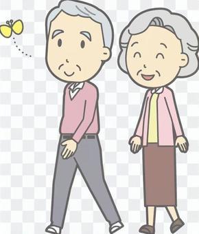 老年夫婦走遍全身