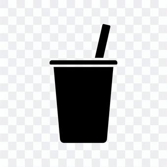 杯飲料剪影圖標