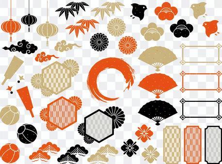 標題和框架集日式