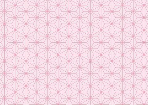 背景(日本圖案、麻葉圖案、粉色、淺色)