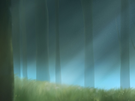 夢幻般的深林背景圖