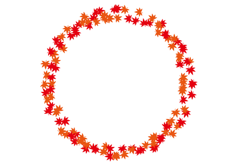 4 frames_Autumn leaves, circles, spraying