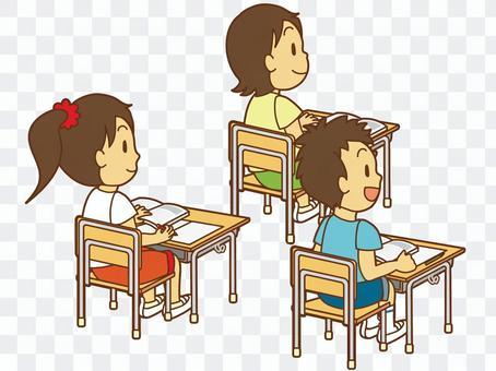 班上的孩子