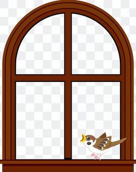 窓辺の小鳥 フレーム