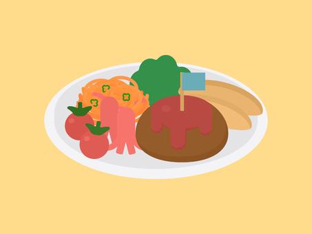 簡單可愛的兒童午餐插畫