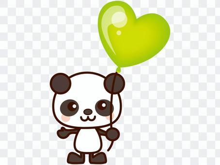 パンダと風船