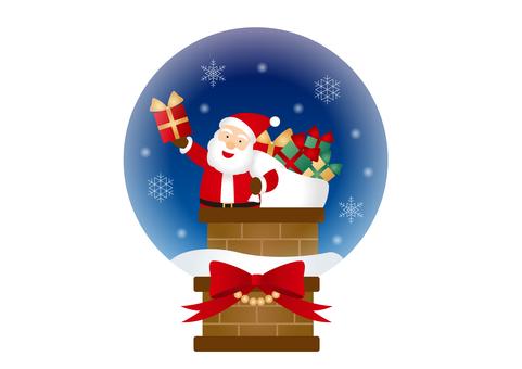 聖誕聖誕老人雪球