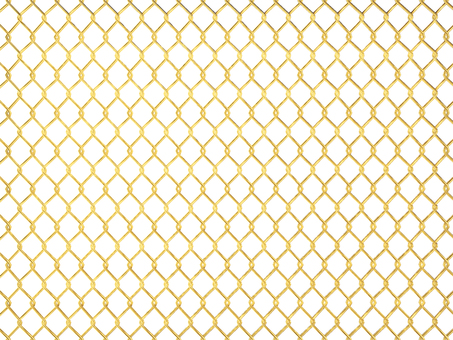 Illustration of golden fence, wire mesh