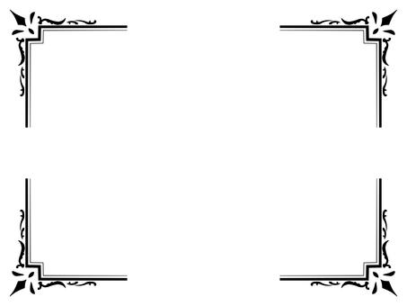 古色古香的角飾(黑色)