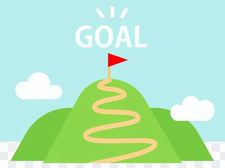 The way to the goal of the mountaintop