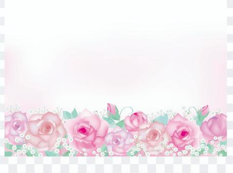玫瑰和陰霾草架