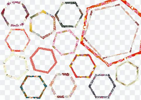 Japanese style title decoration 23 polygon