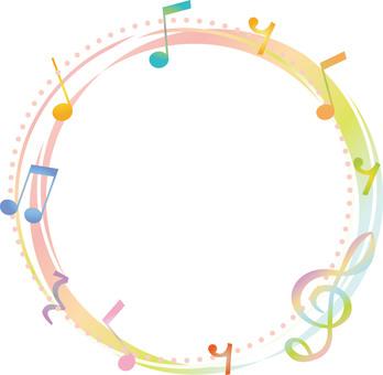 一個音符的環形框架