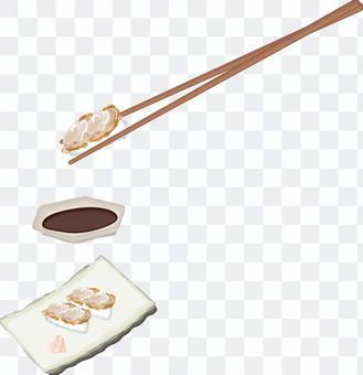 壽司壽司餐廳扇貝
