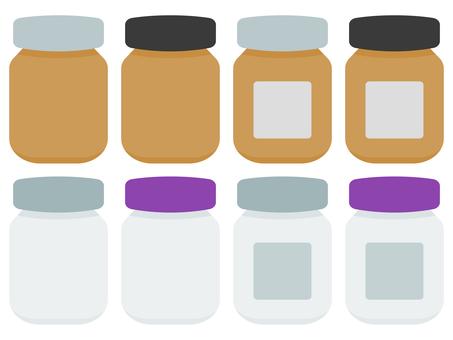 棕色和白色藥瓶套裝