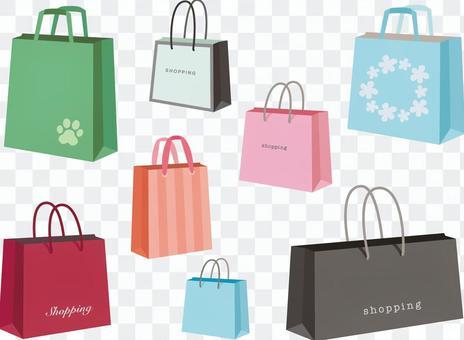Various shopping bags