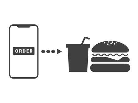 移動訂單在快餐中的使用