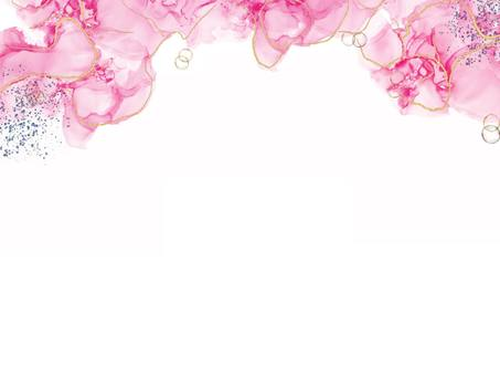 酒精墨水藝術粉紅色框架