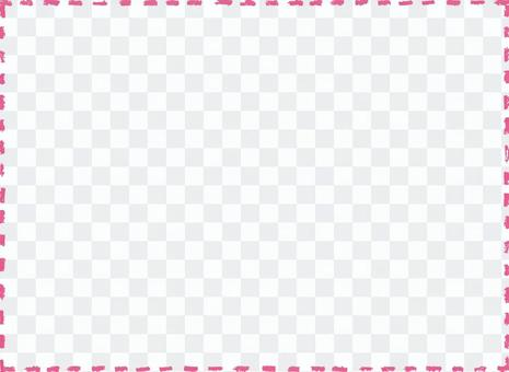 Crayon touch stitch frame 1 pink