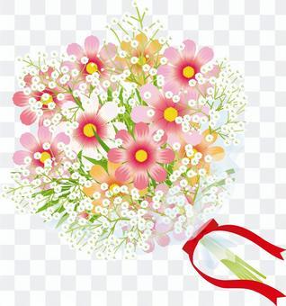放牧草的波斯菊&花花束6