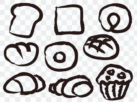 麵包用畫筆繪製