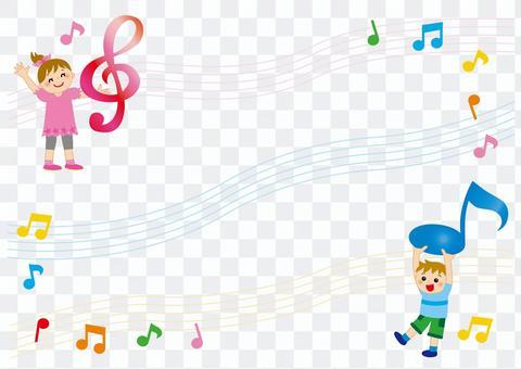 音楽 フレーム