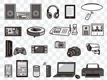 家電 デジタル家電 セット 02 白黒