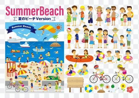 夏天海灘SET的人們