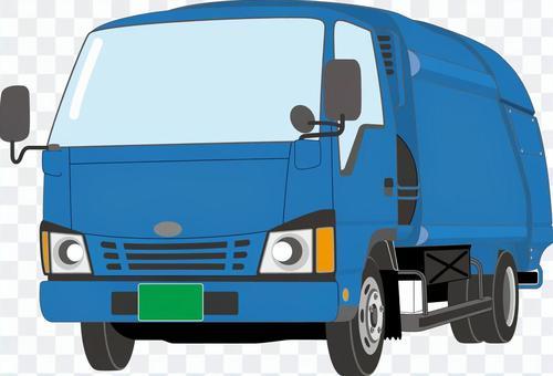 小型トラック_パッカー車_青