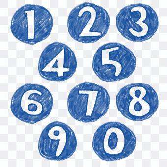 按鈕數字手繪