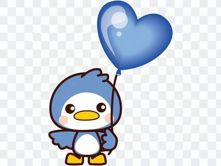 ペンギンと風船