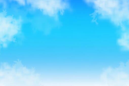 藍藍的天空和雲彩