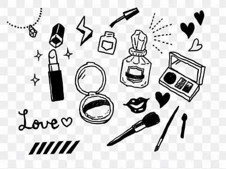 化妝品單色線條圖001