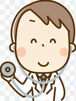 醫生用聽診器