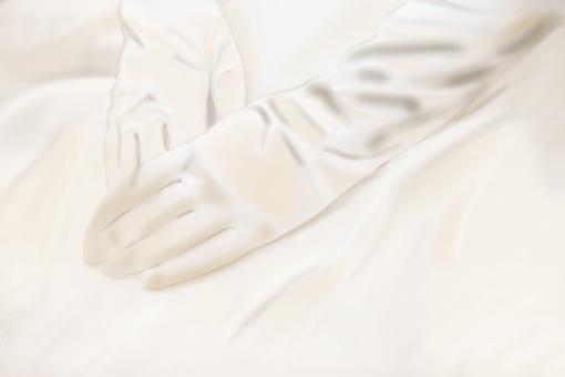 新娘手套婚禮形象