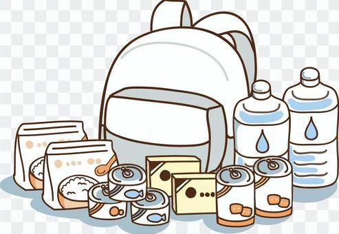 防災背囊和應急食品