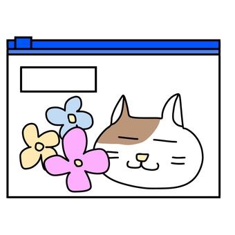 貓的軟包(帶拉鍊)