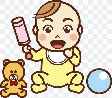 嬰兒玩玩具