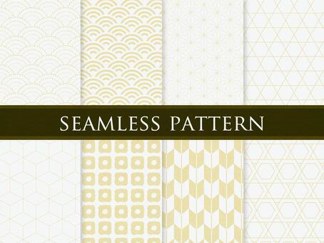 Japanese pattern gold