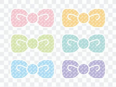 Ribbon pattern 6 colors Borderless