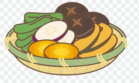 BBQ 野菜+かご