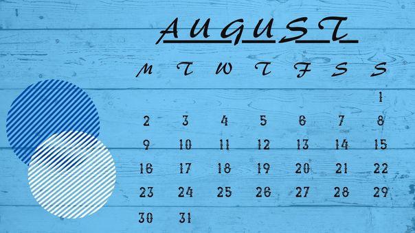 日曆 ① [2021 年 8 月]