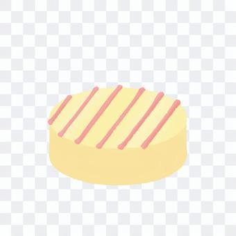 円形のホワイトチョコ(輪郭線なし)